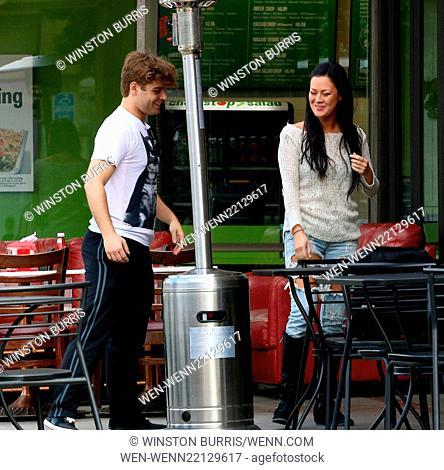 Garrett Clayton and Jade Moser have lunch at Crave Café in Studio City Featuring: Garrett Clayton, Jade Moser Where: Los Angeles, California