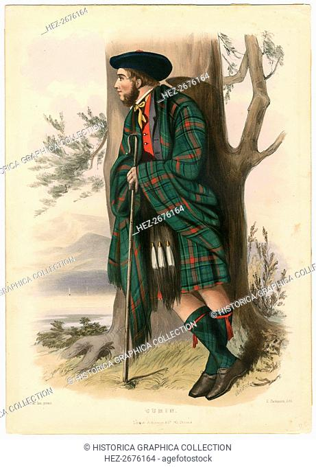 Cumin,from The Clans of the Scottish Highlands, pub. 1845 (colour lithograph)