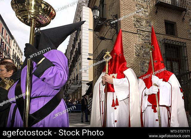 Procession of the Virgin of the Loneliness on Holy Saturday of Holy Week, MADRID, SPAIN, EUROPE