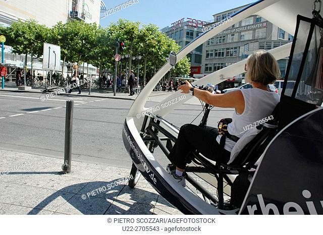Frankfurt, Germany: cyclo-taxi