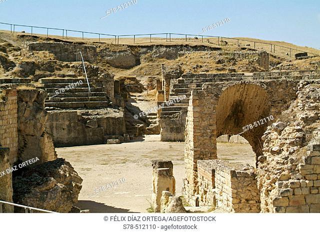 Roman Circus. Segobriga archeological site. Cuenca province, Castilla-La Mancha. Spain