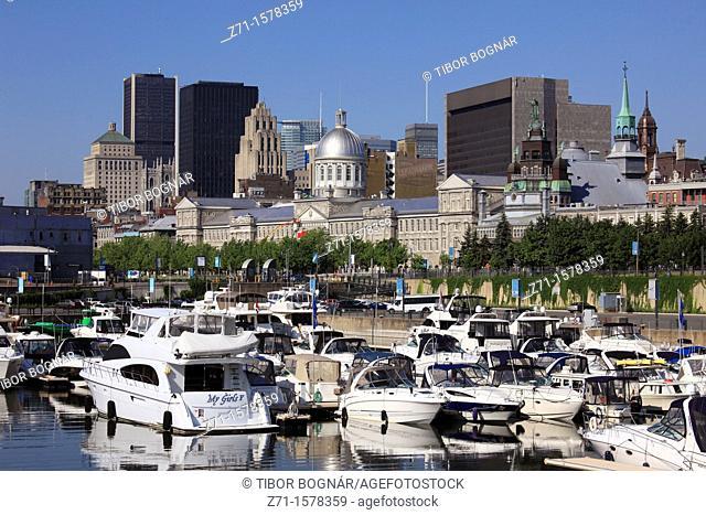 Canada, Quebec, Montreal, skyline, harbour
