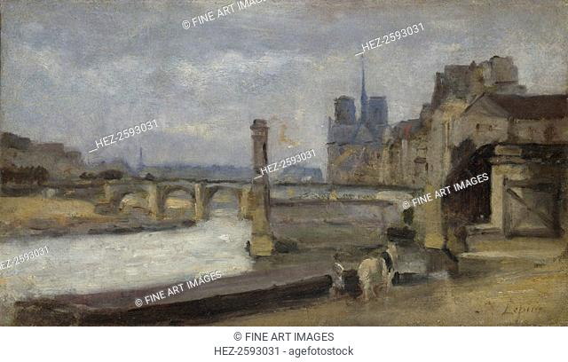 The Pont de la Tournelle, Paris, 1862-1864. Found in the collection of the National Gallery, London