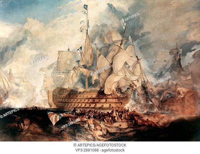 William Turner . The Battle of Trafalgar. 1805. National Gallery London
