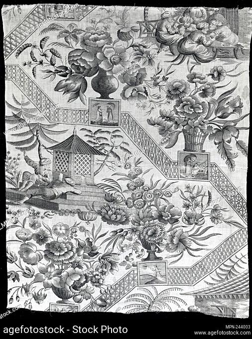 Panel (Furnishing Fabric) - Late 18th early 19th century - England - Origin: England, Date: 1790–1810, Medium: Cotton, plain weave; copperplate printed