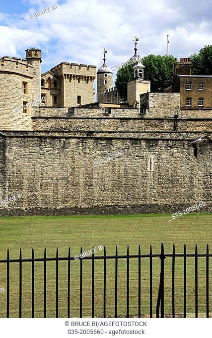 Historic castle of Tower of London. London. England. United Kingdom