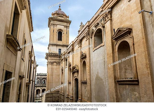 Saint Nicholas of Myra Cathedral in Noto city, Sicily in Italy