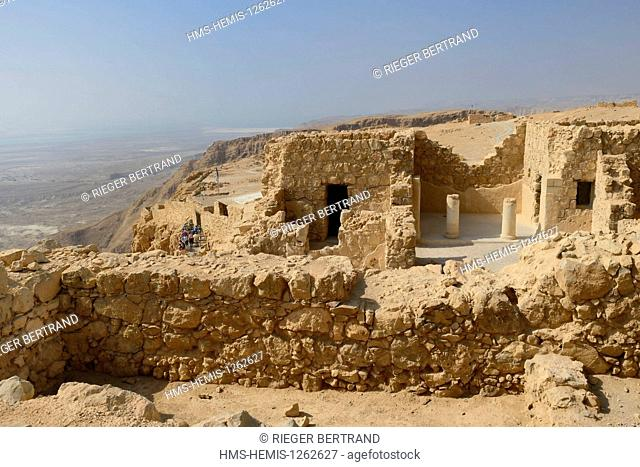 Israel, Negev Desert, Masada fortress, listed as World Heritage by UNESCO
