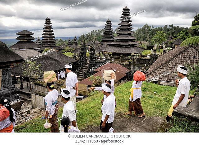 Mother Temple of Besakih, the largest Hindu temple in Bali. Indonesia, Nusa Tenggara, Bali, Pura Besakih