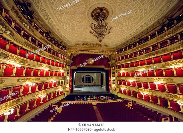 Scala theatre in Milan, Italy