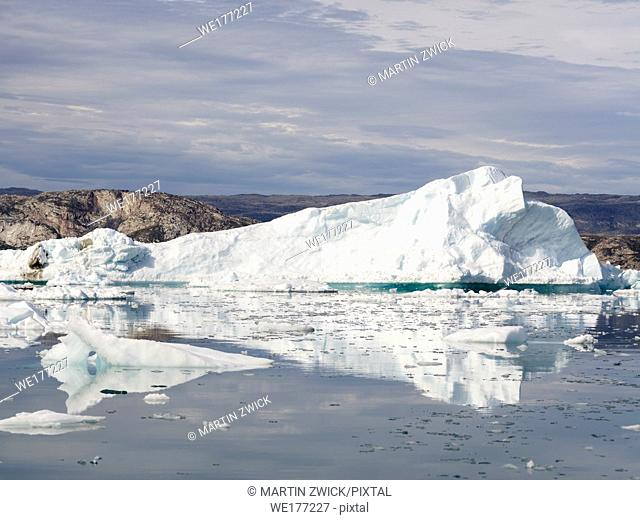 Icebergs in the Disko Bay, Greenland, Denmark, August