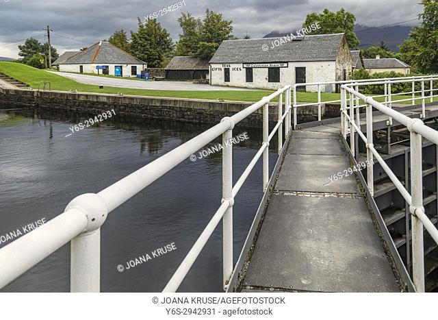 Neptune's Staircase, Banavie, Caledonian Canal, Highlands, Scotland, United Kingdom
