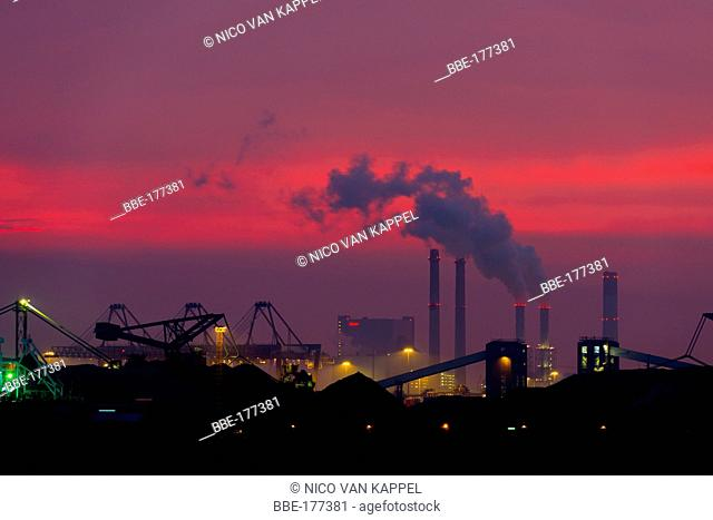 Industry in the port of Rotterdam