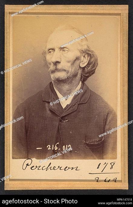 Percheron. Auguste. 56 ans, né à Poitier (Nièvre). Écrivain public. Anarchiste. 21/3/94. Artist: Alphonse Bertillon (French