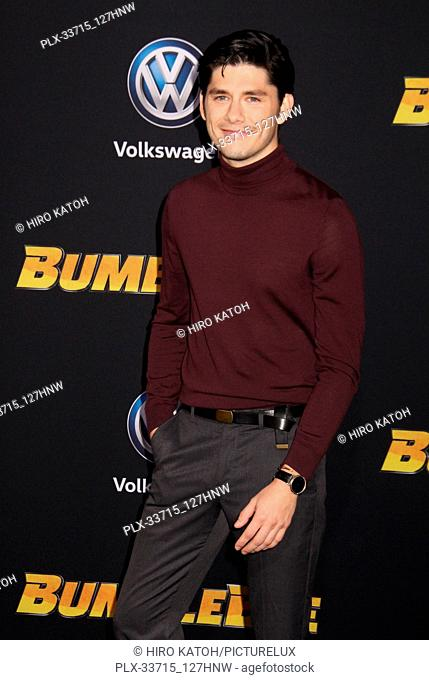 """Ricardo Hoyos 12/09/2018 The Global Premiere of """"""""Bumblebee"""""""" held at TCL Chinese Theater in Los Angeles, CA Photo by Hiro Katoh / HNW / PictureLux"""