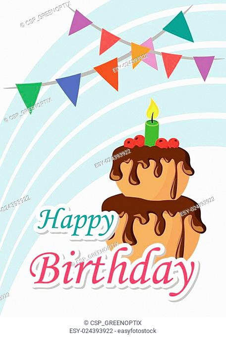 Poster Card Illustration Graphic Vector Happy Birthday To You