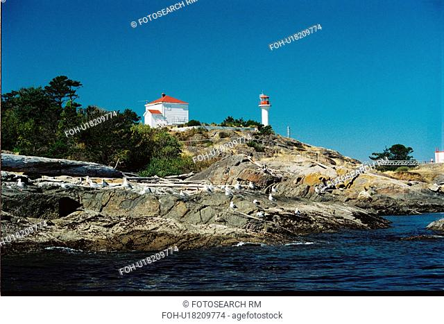 lighthouse located at Discovery Island, British Columbia, Canada