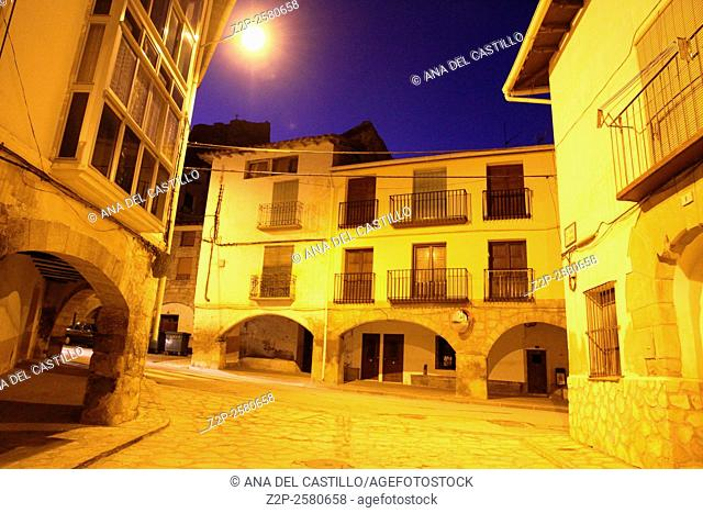 Aliaga at dusk, Teruel province Aragon Spain