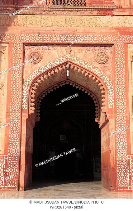 Jami Masjid in Fatehpur Sikri built during second half of 16th century , Agra , Uttar Pradesh , India UNESCO World Heritage Site