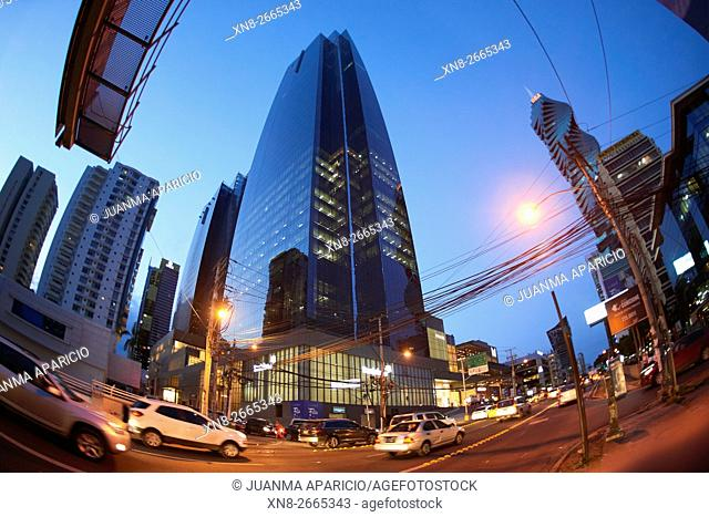 50th Street at Evening, Panama City, Republic of Panama, Central America