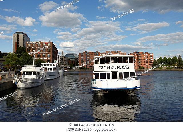 Finland, Region of Pirkanmaa, Tampere, City, Laukontori Market Square, Ratinansuvanto, Tourist Cruise Ships