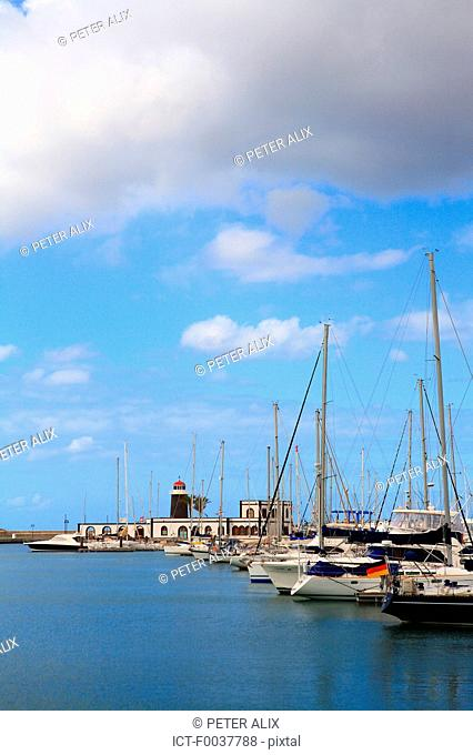 Spain, Canary islands, Lanzarote, Playa blanca, the marina