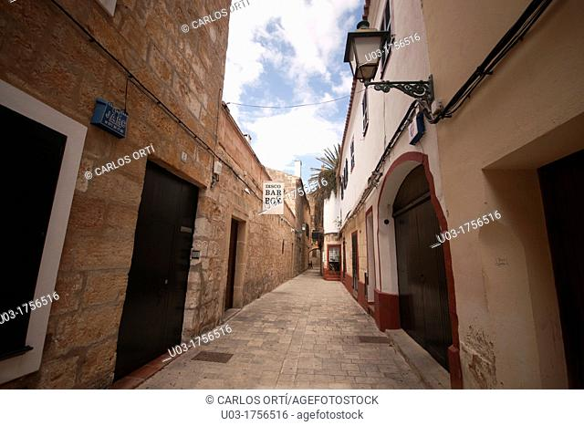 street of Citadella, Menorca, Spain