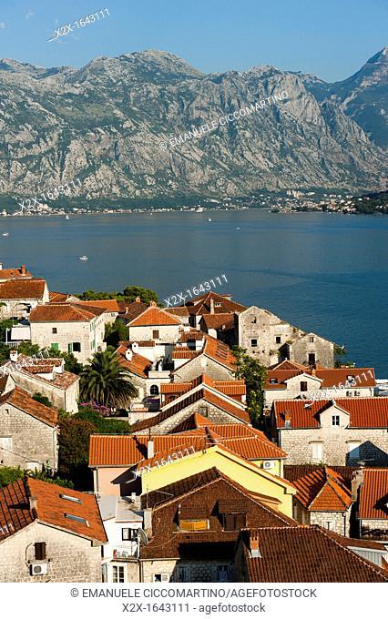 City view of Perast, Bay of Kotor, Montenegro, Europe