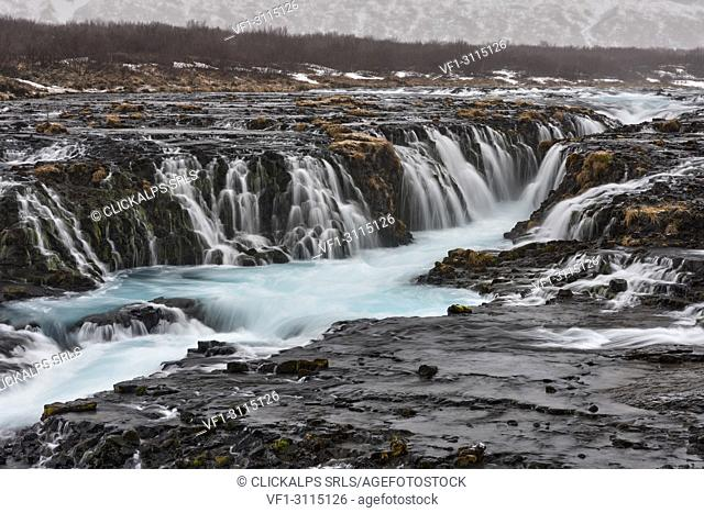 the power of Icelandic waterfalls, Bruarfoss, Sudurland, South Iceland, Europe