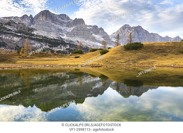 Alpine lake on the Brenta Dolomites