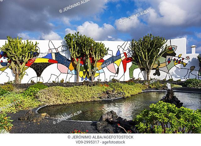Cesar Manrique Foundation in Tahiche. Lanzarote Island. Canary Islands Spain. Europe