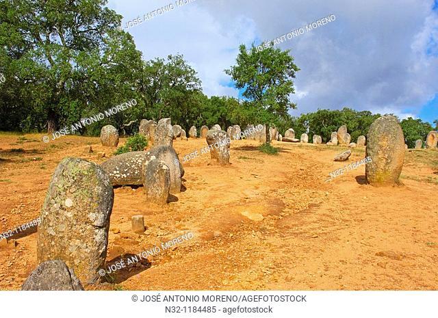 Evora, Cromeleque dos Almendres, Megalithic Site, Alentejo, Portugal