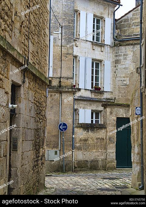 Rue des trois fours, Angouleme, Charente Department, Nouvelle-Aquitaine, France