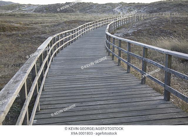 Walkway at Doninos Beach, Ferrol, Spain