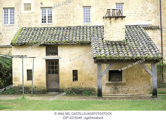 Exterior of Cadouin Abbey in the Dordogne France