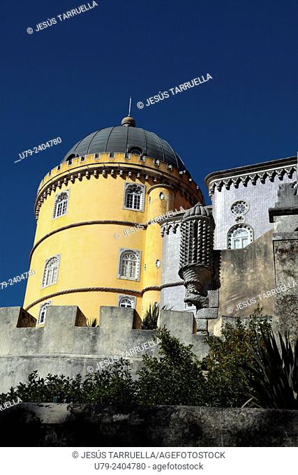 Pena Palace. Natural Park of Sintra-Cascais. Sintra. Portugal