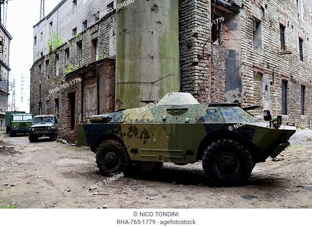 Russian military armored car, Soviet Period Exhibition (1945-1992), Tallinn, Estonia, Baltic States, Europe