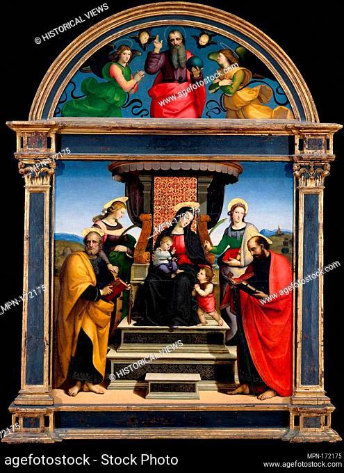 Madonna and Child Enthroned with Saints. Artist: Raphael (Raffaello Sanzio or Santi) (Italian, Urbino 1483-1520 Rome); Date: ca
