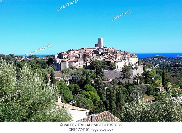 The coastal perched village of Saint Paul de Vence, Alpes-Maritimes, French riviera, Provence-Alpes-Côte d'Azur, France