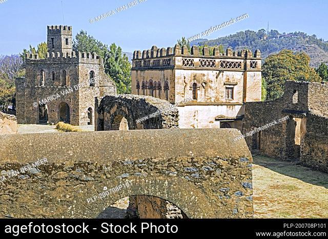 Fasil Ghebbi / Royal Enclosure and 17th century Emperor Fasilides' castle, North Gondar Zone, Amhara Region, Ethiopia, Africa