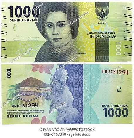 1000 Rupiah banknote, Cut Nyak Meutia, Indonesia, 2016