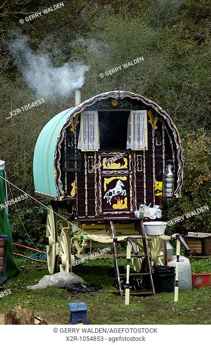 The traditional Romany gypsy caravans of the Hoare family as they live off the land in rural Hampshire  They claim to take nothing from the State and to keep to...