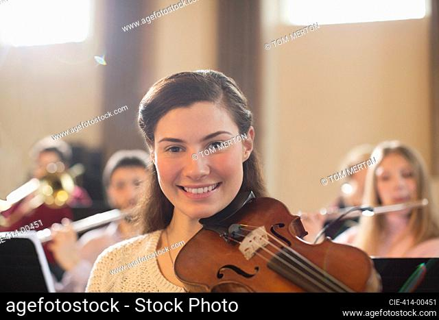 Portrait of confident violinist