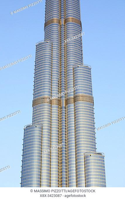 Detail of the Burj Khalifa, Dubai, United Arab Emirates