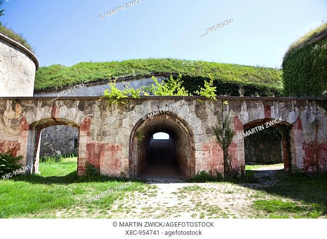Fort Monostor in Komarom Monostori Eroed, Hungary  Bastion for the artillery covering the danube  The fort was built from 1850 onwards  The main purpose for the...