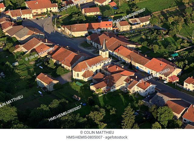 France, Meurthe et Moselle, Saintois, Praye,sous,Vaudemont (aerial view)