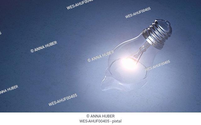 Melting light bulb