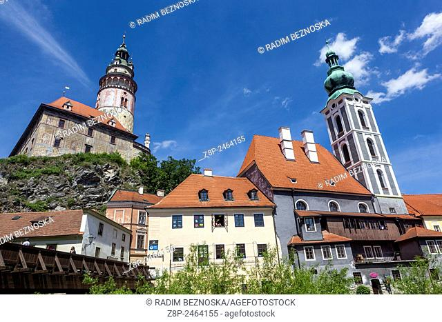 Cesky Krumlov, UNESCO heritage world site, medieval town, Czech Republic