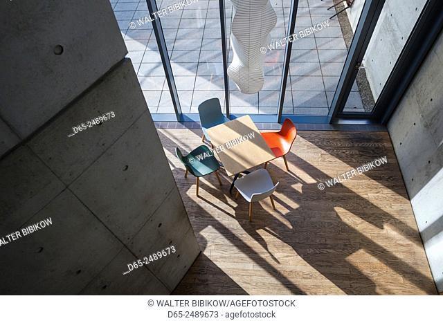 Germany, Baden-Wurttemburg, Weil am Rhein, Vitra Architectural Design Campus, Conference Pavilion, Tadao Ando, 1993, interior