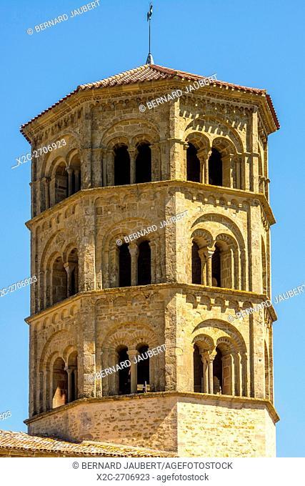 Steeple of romanesque church of Anzy le Duc. Brionnais region. Saône et Loire. France